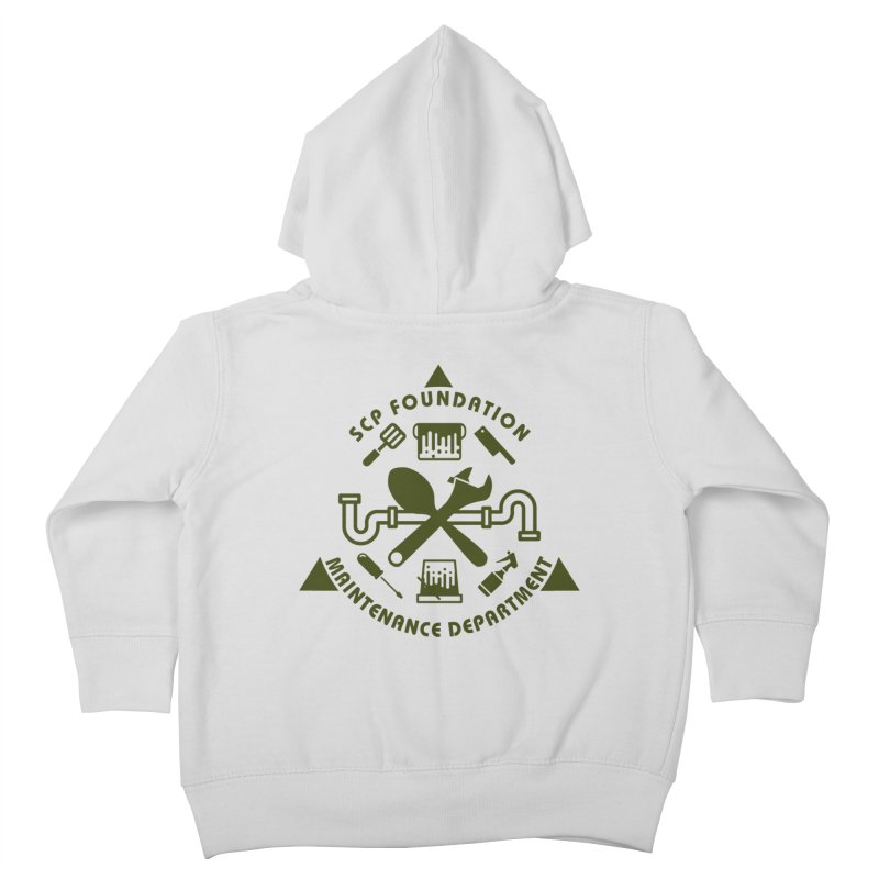 SCP Maintenance Department Kids Toddler Zip-Up Hoody by Find Us Alive Official Merch
