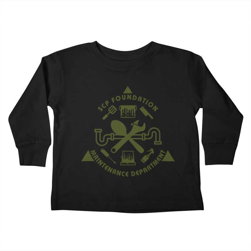 SCP Maintenance Department Kids Toddler Longsleeve T-Shirt by Find Us Alive Official Merch