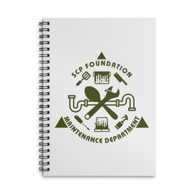 SCP Maintenance Department Accessories Notebook by Find Us Alive Official Merch