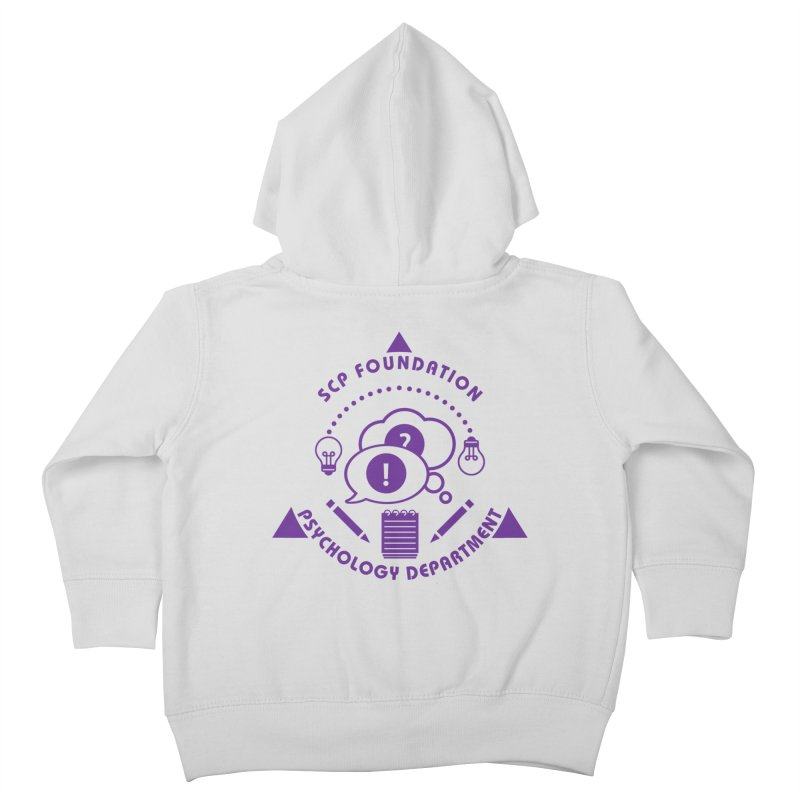 SCP Psychology Department Kids Toddler Zip-Up Hoody by Find Us Alive Official Merch