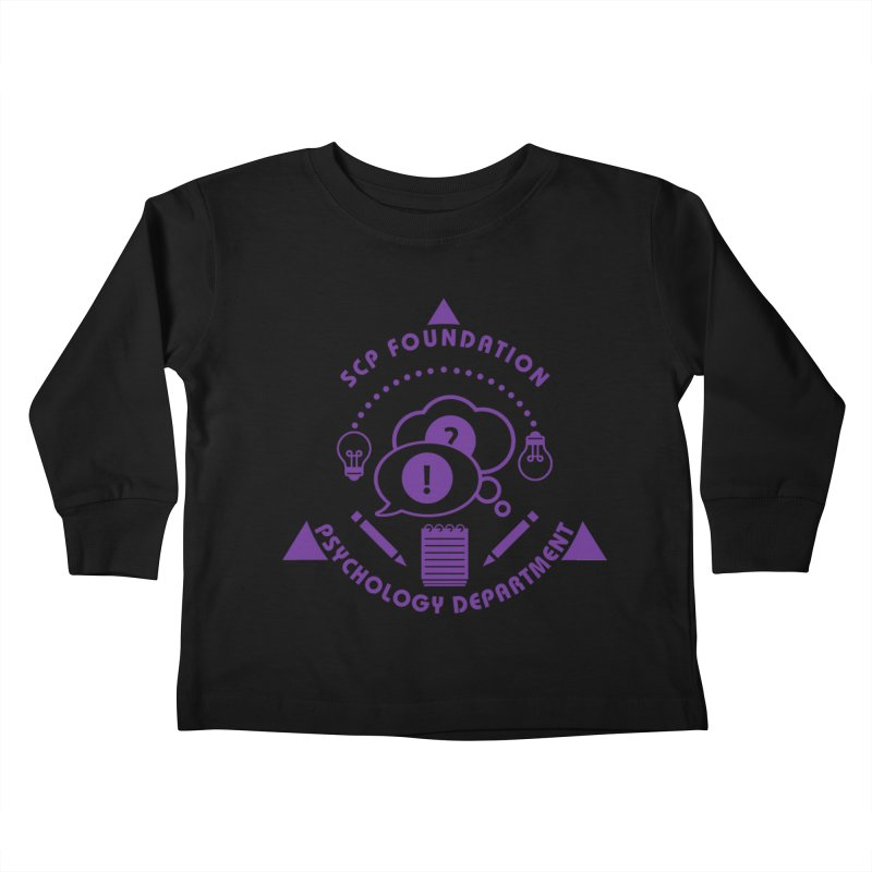 SCP Psychology Department Kids Toddler Longsleeve T-Shirt by Find Us Alive Official Merch