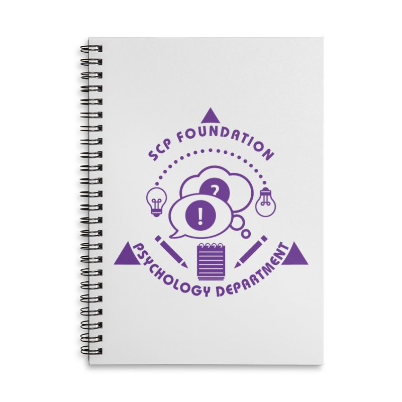 SCP Psychology Department Accessories Notebook by Find Us Alive Official Merch