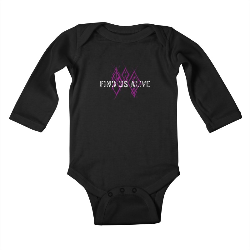 Body Code Title Kids Baby Longsleeve Bodysuit by Find Us Alive Official Merch