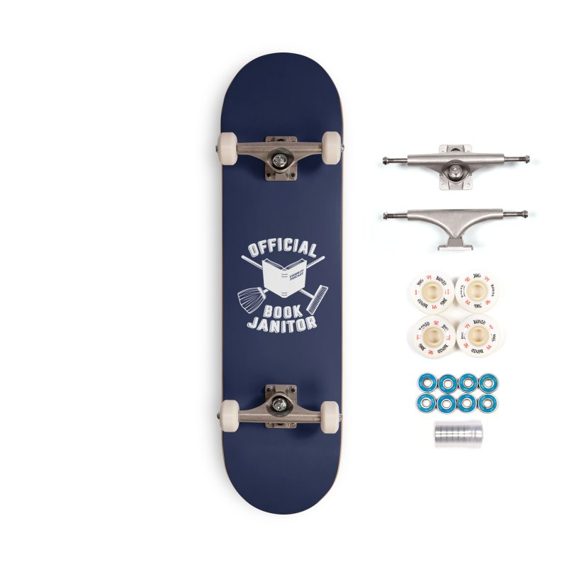Official Book Janitor (White) Accessories Complete - Premium Skateboard by Finish It! Podcast Merchzone