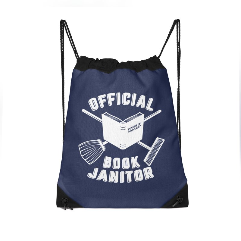 Official Book Janitor (White) Accessories Bag by Finish It! Podcast Merchzone