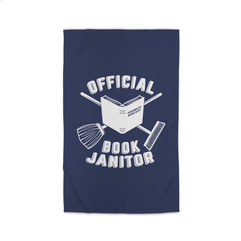 Official Book Janitor (White) Home Rug by Finish It! Podcast Merchzone