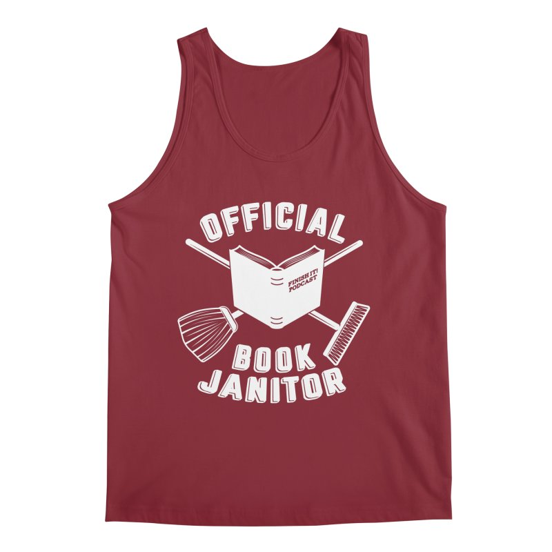 Official Book Janitor (White) Men's Regular Tank by Finish It! Podcast Merchzone