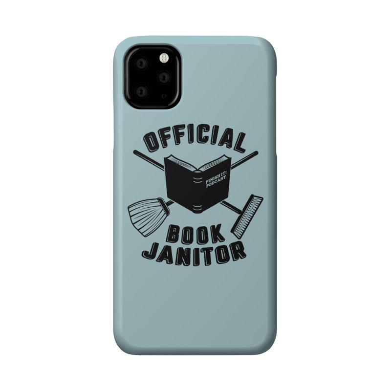 Official Book Janitor (Black) Accessories Phone Case by Finish It! Podcast Merchzone