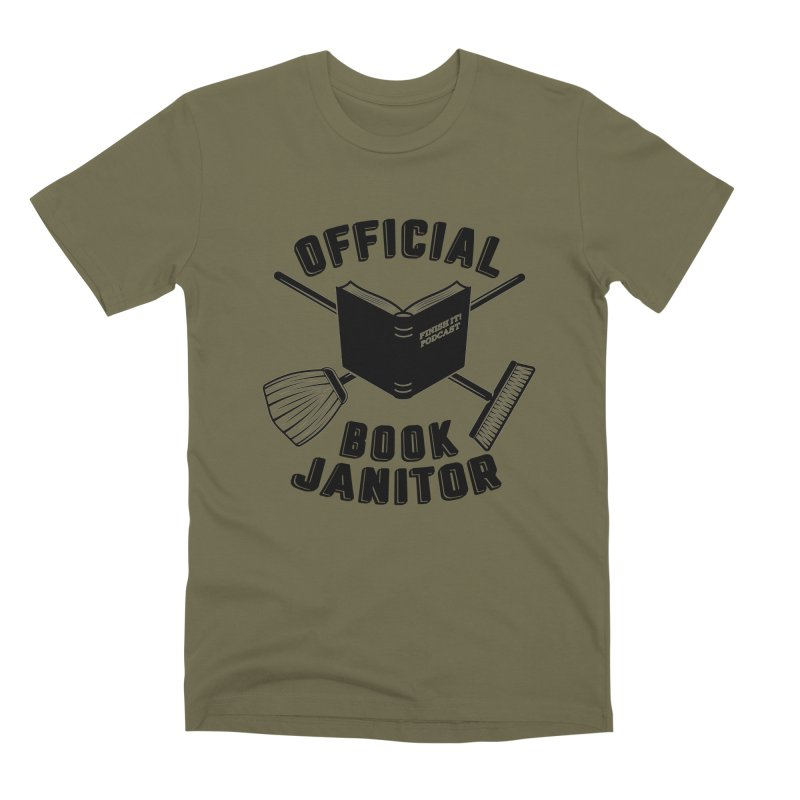 Official Book Janitor (Black) Men's Premium T-Shirt by Finish It! Podcast Merchzone