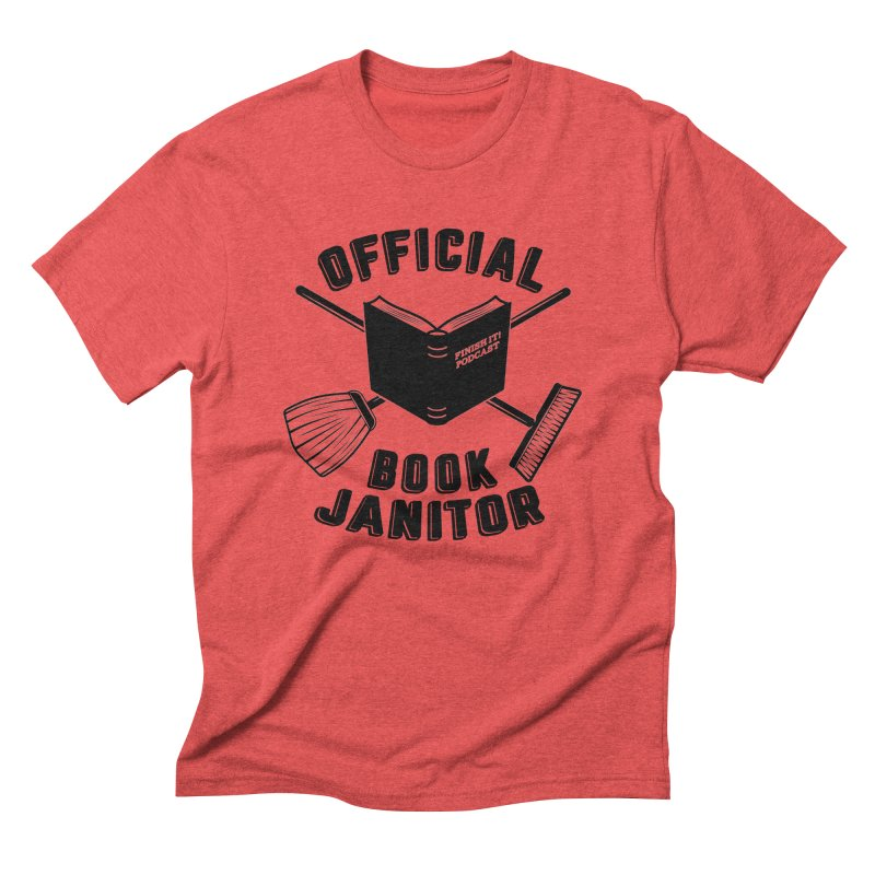 Official Book Janitor (Black) Men's T-Shirt by Finish It! Podcast Merchzone