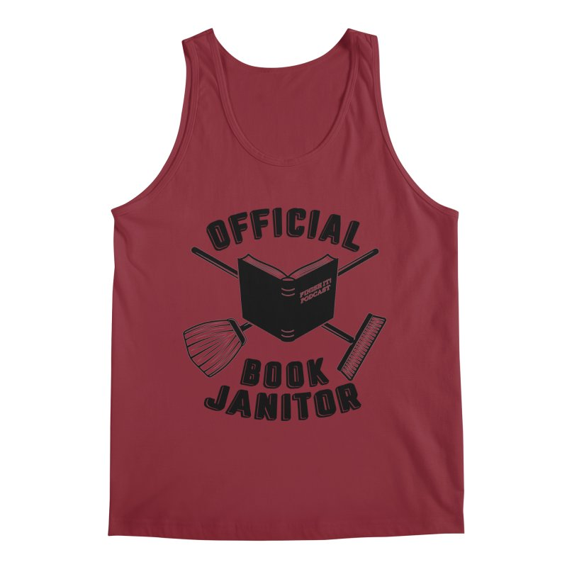 Official Book Janitor (Black) Men's Regular Tank by Finish It! Podcast Merchzone