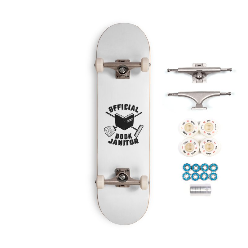 Official Book Janitor (Black) Accessories Complete - Premium Skateboard by Finish It! Podcast Merchzone