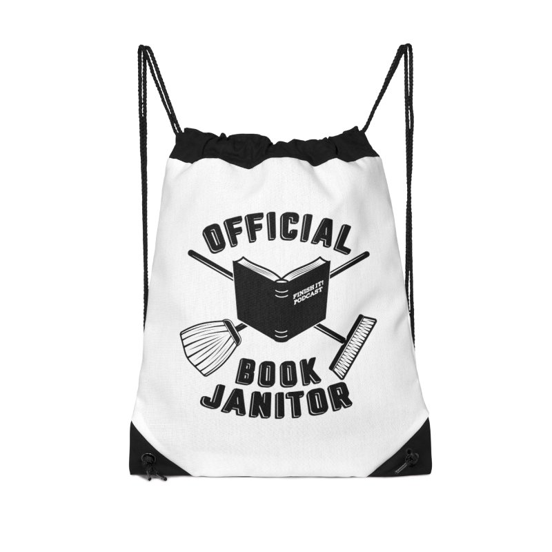 Official Book Janitor (Black) Accessories Bag by Finish It! Podcast Merchzone