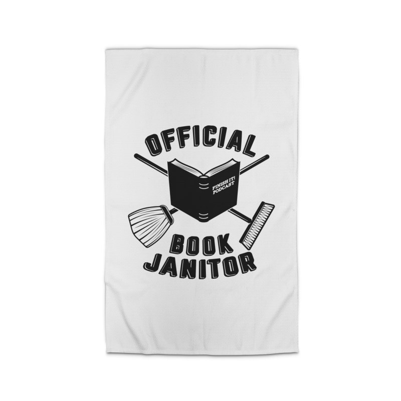 Official Book Janitor (Black) Home Rug by Finish It! Podcast Merchzone