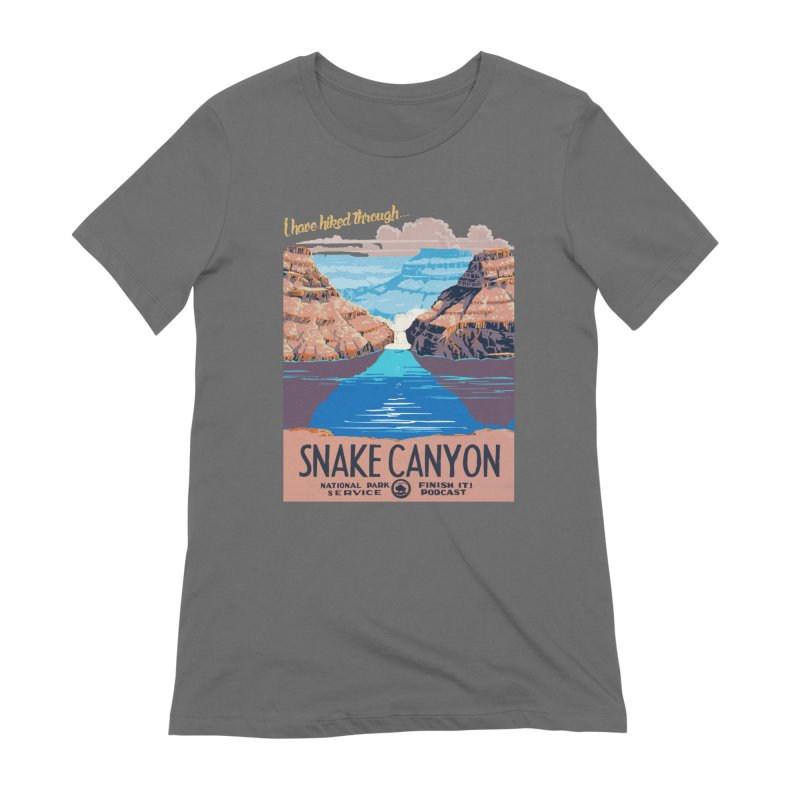 Snake Canyon Hourglass Women's Extra Soft T-Shirt by Finish It! Podcast Merchzone