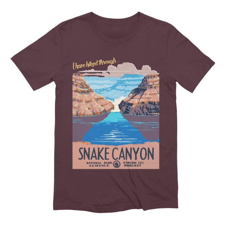 Snake Canyon Hourglass Men's Extra Soft T-Shirt by Finish It! Podcast Merchzone