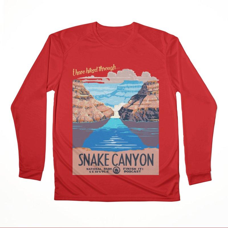 Snake Canyon Hourglass Women's Performance Unisex Longsleeve T-Shirt by Finish It! Podcast Merchzone