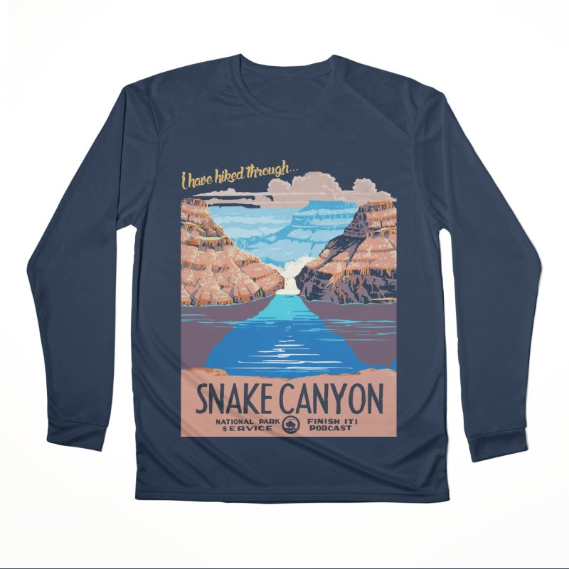 Snake Canyon Hourglass Men's Performance Longsleeve T-Shirt by Finish It! Podcast Merchzone