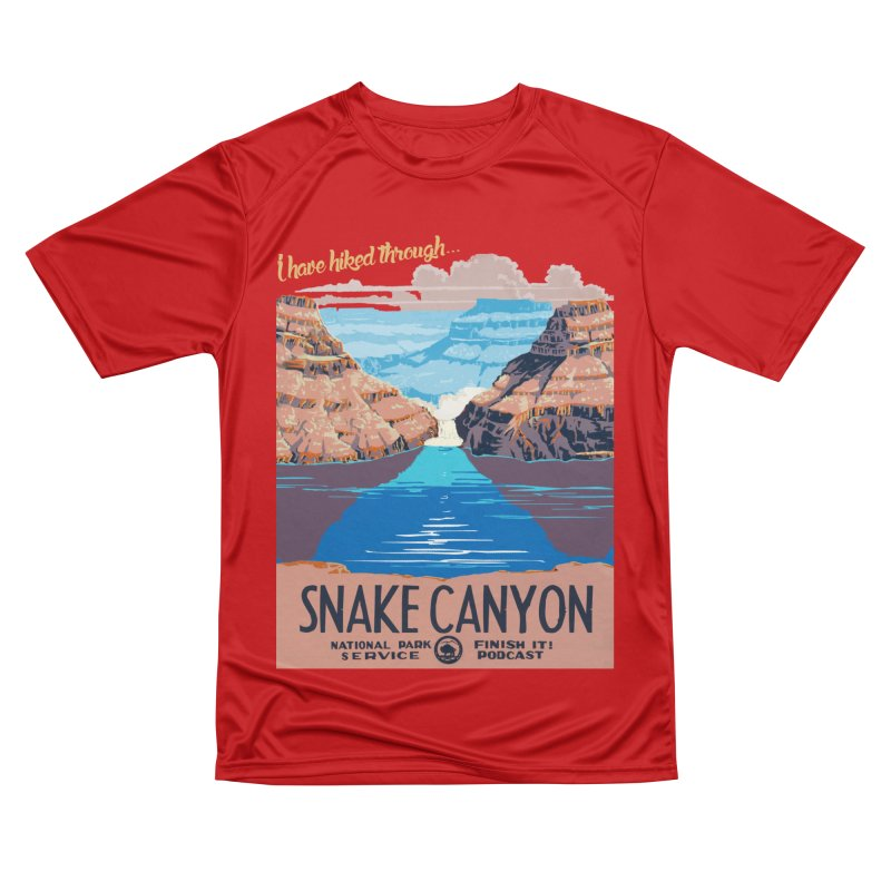 Snake Canyon Hourglass Men's Performance T-Shirt by Finish It! Podcast Merchzone