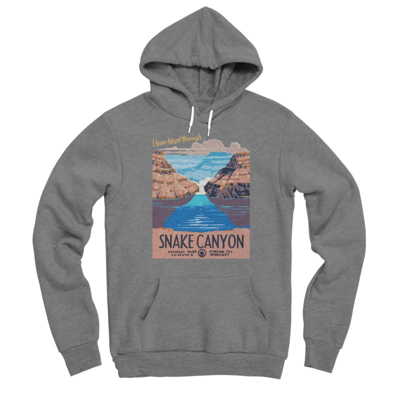 Snake Canyon Hourglass Women's Sponge Fleece Pullover Hoody by Finish It! Podcast Merchzone