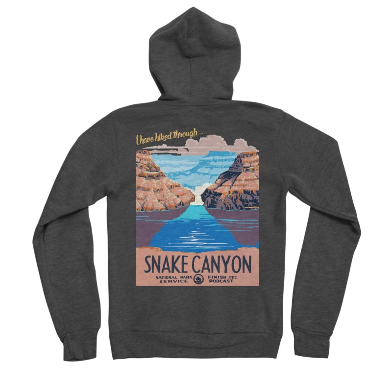 Snake Canyon Hourglass Men's Zip-Up Hoody by Finish It! Podcast Merchzone