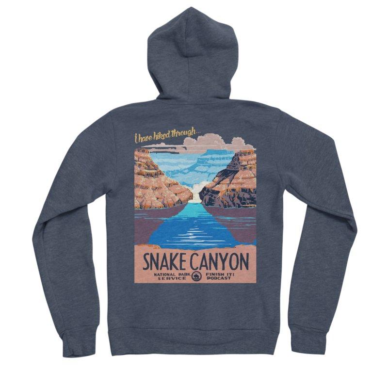 Snake Canyon Hourglass Women's Sponge Fleece Zip-Up Hoody by Finish It! Podcast Merchzone