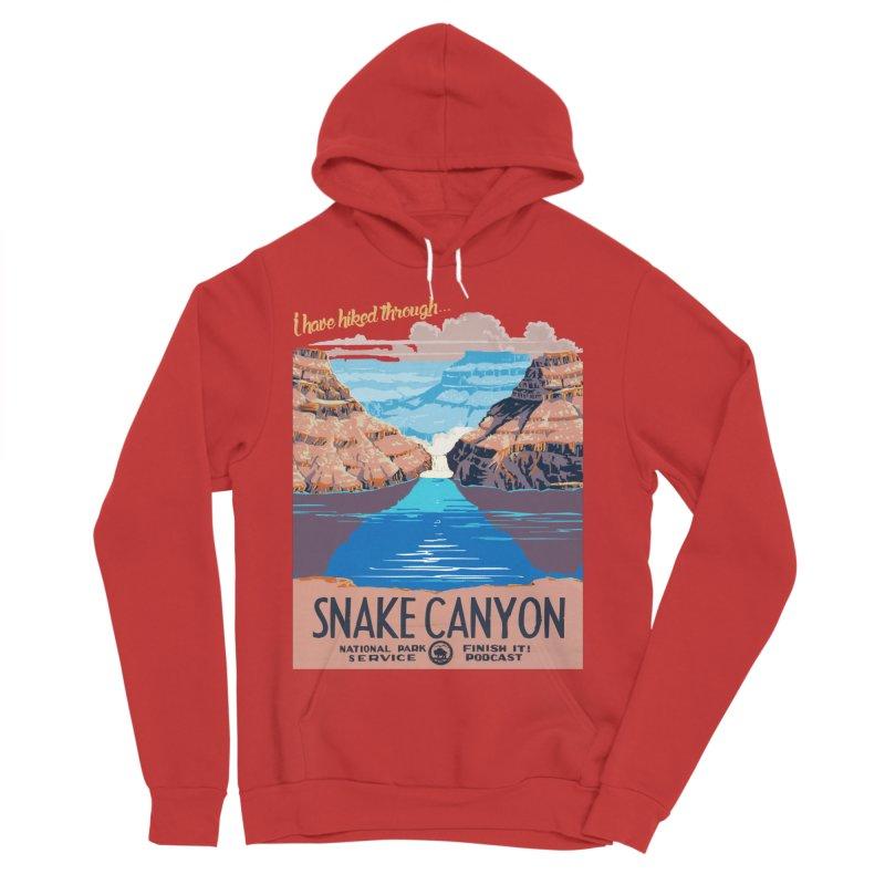 Snake Canyon Hourglass Men's Sponge Fleece Pullover Hoody by Finish It! Podcast Merchzone