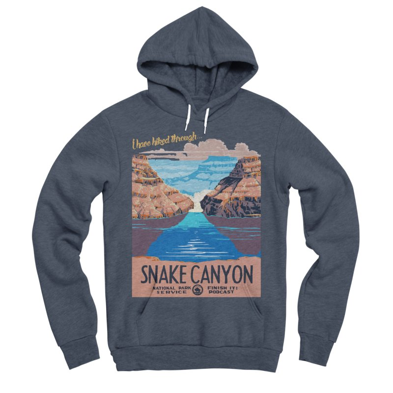 Snake Canyon Hourglass Men's Sponge Fleece Pullover Hoody by Finish It! Podcast Merchzone