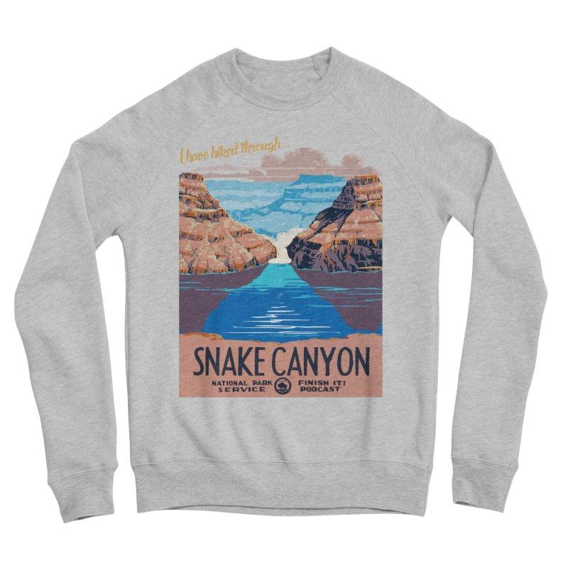 Snake Canyon Hourglass Men's Sponge Fleece Sweatshirt by Finish It! Podcast Merchzone