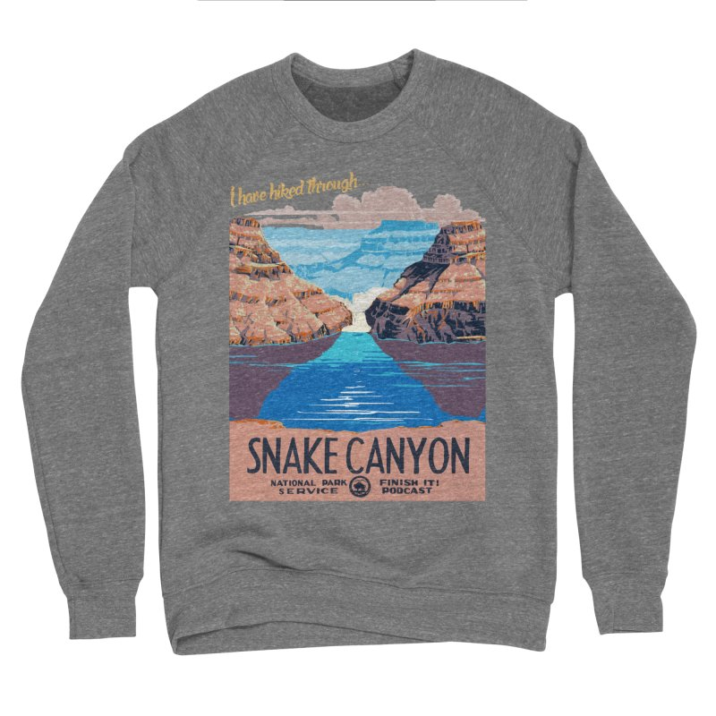 Snake Canyon Hourglass Men's Sponge Fleece Sweatshirt by Finish It! Podcast Merchzone