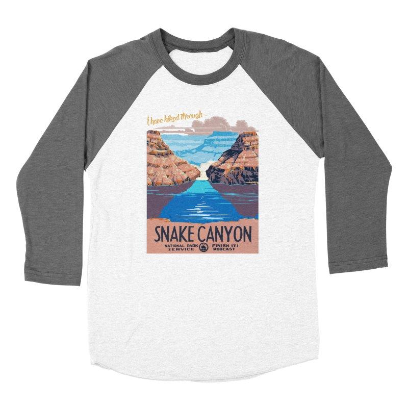 Snake Canyon Hourglass Women's Baseball Triblend Longsleeve T-Shirt by Finish It! Podcast Merchzone