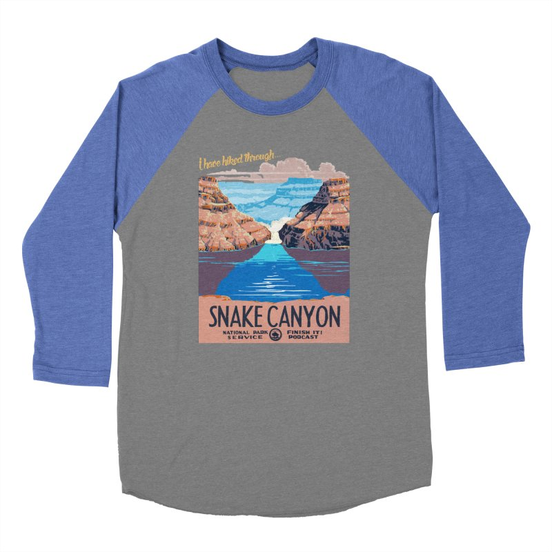 Snake Canyon Hourglass Men's Baseball Triblend Longsleeve T-Shirt by Finish It! Podcast Merchzone
