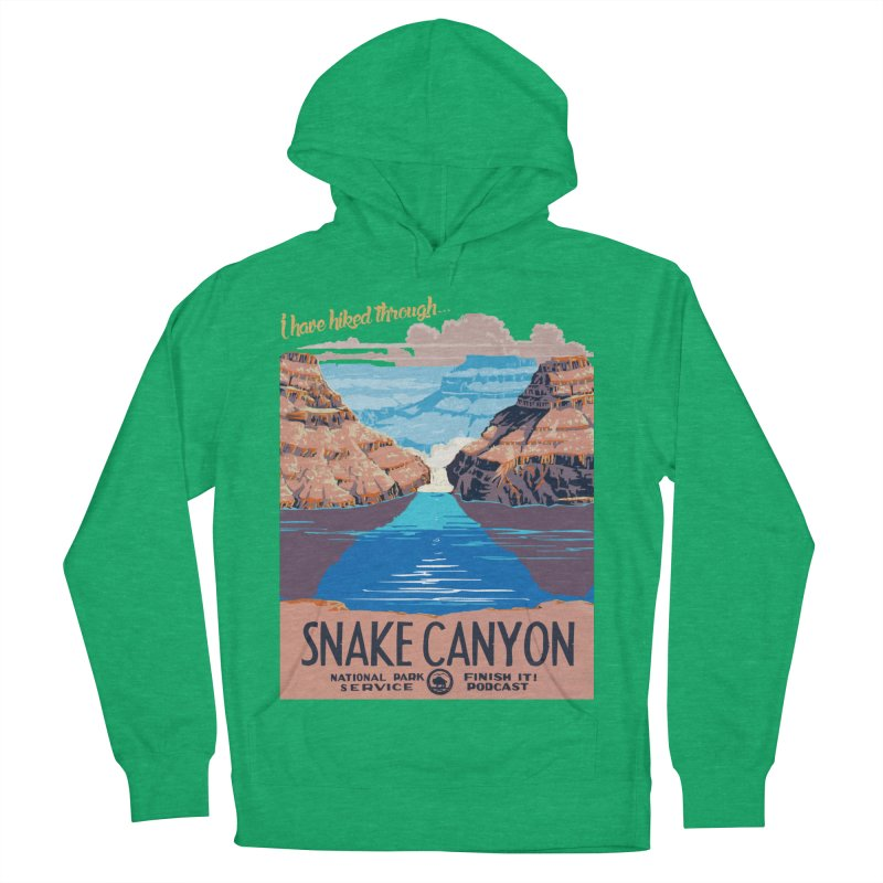 Snake Canyon Hourglass Men's French Terry Pullover Hoody by Finish It! Podcast Merchzone