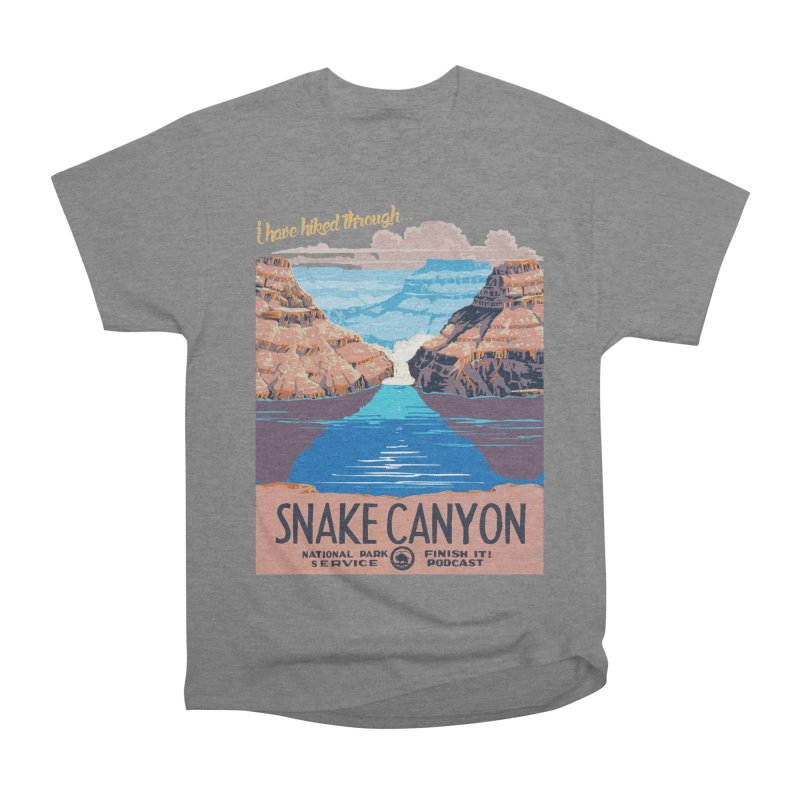 Snake Canyon Hourglass Men's Heavyweight T-Shirt by Finish It! Podcast Merchzone