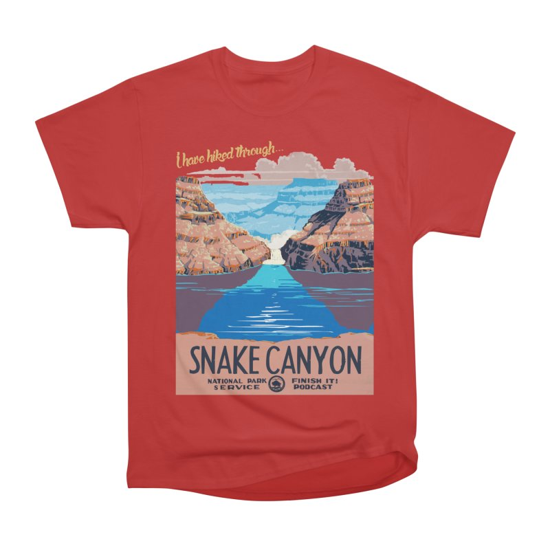 Snake Canyon Hourglass Women's Heavyweight Unisex T-Shirt by Finish It! Podcast Merchzone