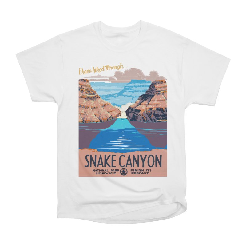 Snake Canyon Hourglass Women's Heavyweight Unisex T-Shirt by Finish It! Podcast Merchzone