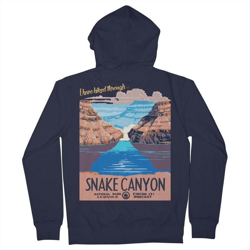 Snake Canyon Hourglass Women's French Terry Zip-Up Hoody by Finish It! Podcast Merchzone