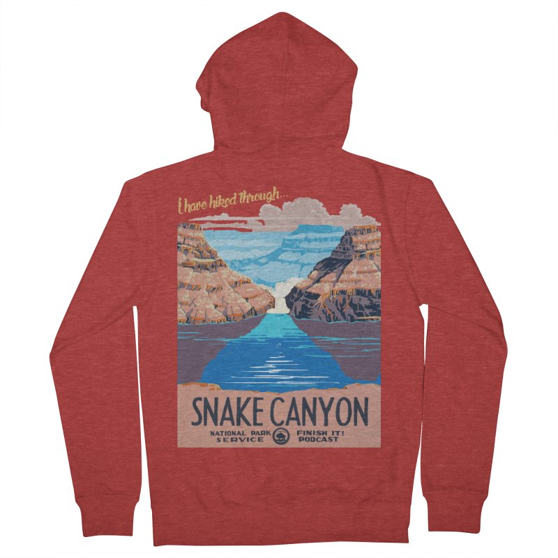 Snake Canyon Hourglass Men's French Terry Zip-Up Hoody by Finish It! Podcast Merchzone