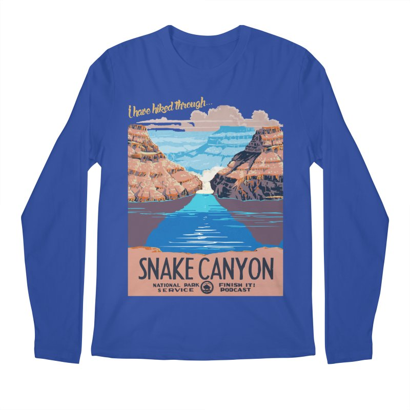 Snake Canyon Hourglass Men's Regular Longsleeve T-Shirt by Finish It! Podcast Merchzone