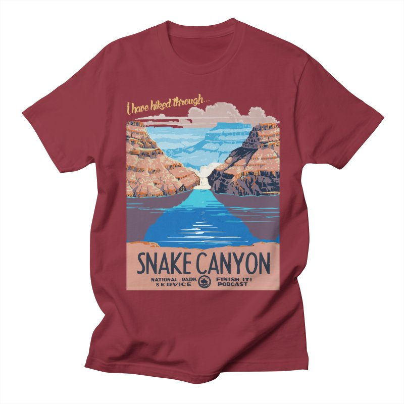 Snake Canyon Hourglass Men's Regular T-Shirt by Finish It! Podcast Merchzone
