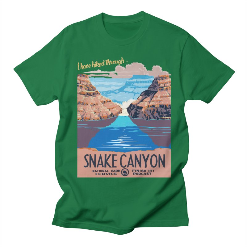 Snake Canyon Hourglass Men's T-Shirt by Finish It! Podcast Merchzone