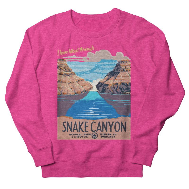 Snake Canyon Hourglass Women's French Terry Sweatshirt by Finish It! Podcast Merchzone