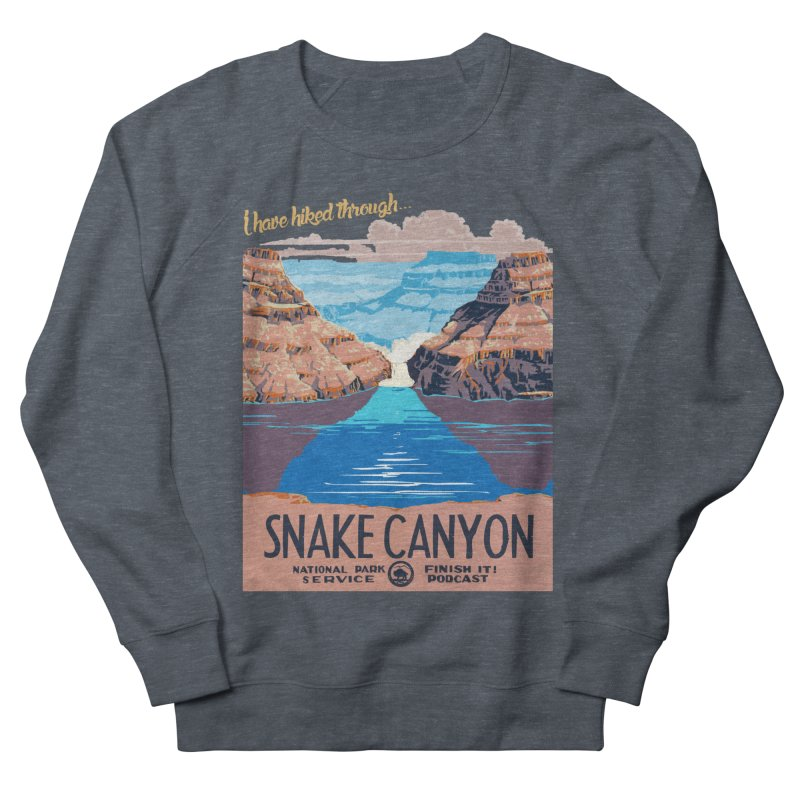 Snake Canyon Hourglass Men's French Terry Sweatshirt by Finish It! Podcast Merchzone