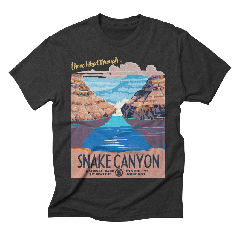 Snake Canyon Hourglass Men's Triblend T-Shirt by Finish It! Podcast Merchzone