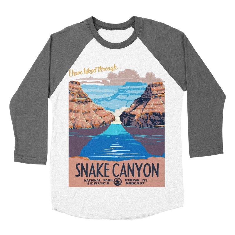 Snake Canyon Hourglass Men's Baseball Triblend Longsleeve T-Shirt by Finish It! Podcast Merchzone