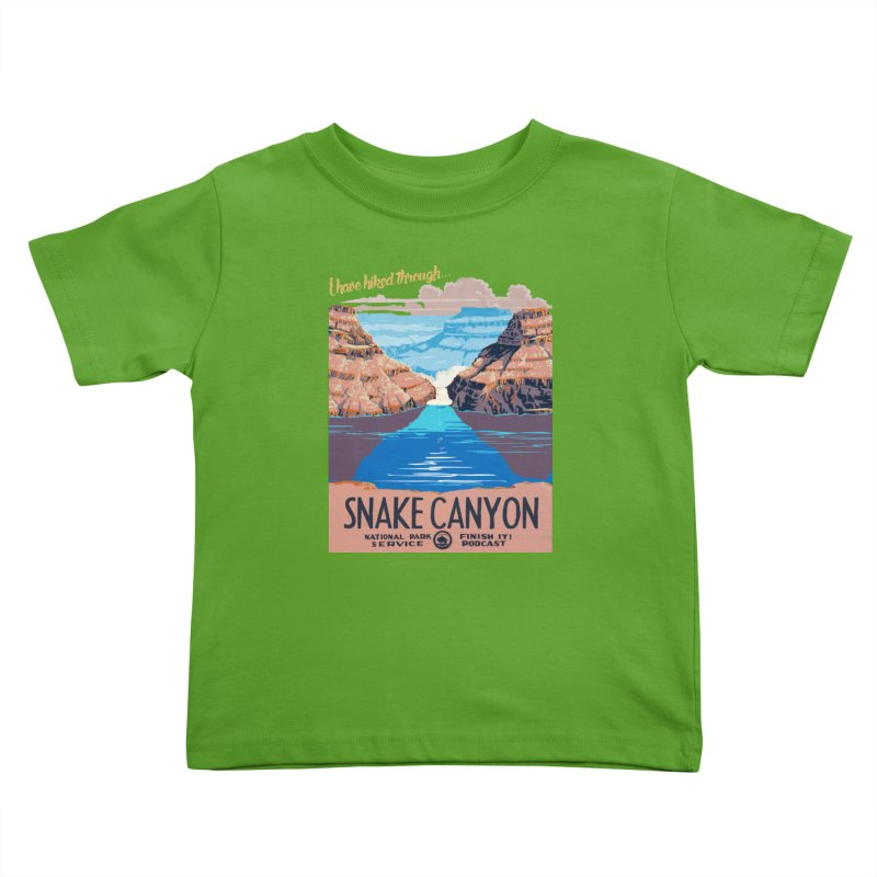 Snake Canyon Hourglass Kids Toddler T-Shirt by Finish It! Podcast Merchzone