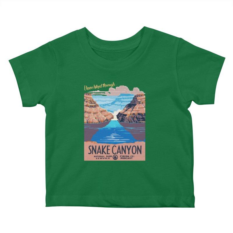 Snake Canyon Hourglass Kids Baby T-Shirt by Finish It! Podcast Merchzone