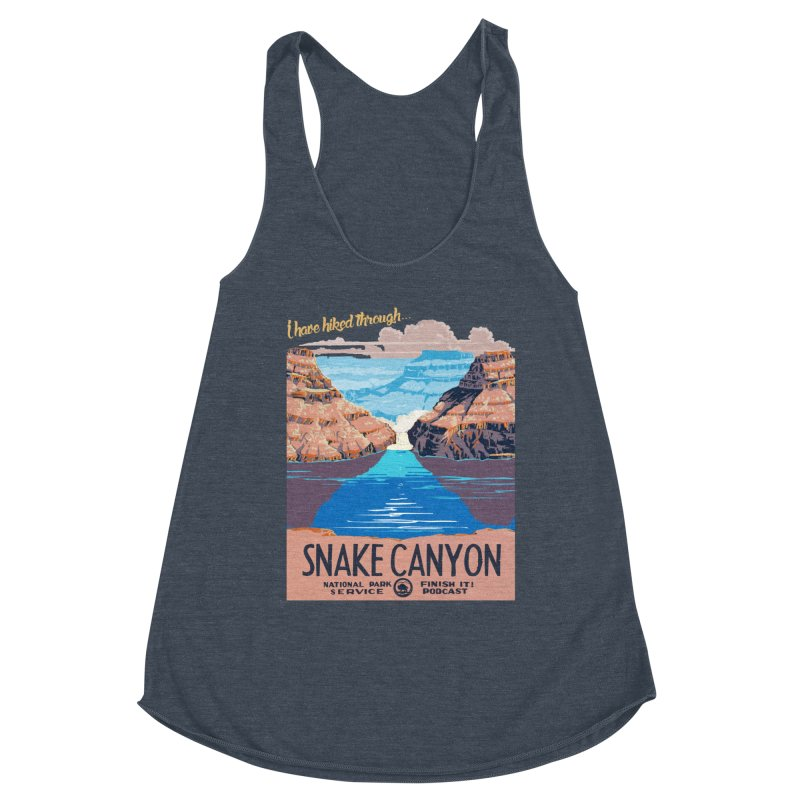 Snake Canyon Hourglass Women's Racerback Triblend Tank by Finish It! Podcast Merchzone