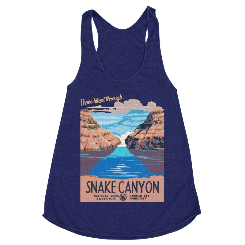 Snake Canyon Hourglass Women's Racerback Triblend Tank by Finish It! Podcast Merchzone