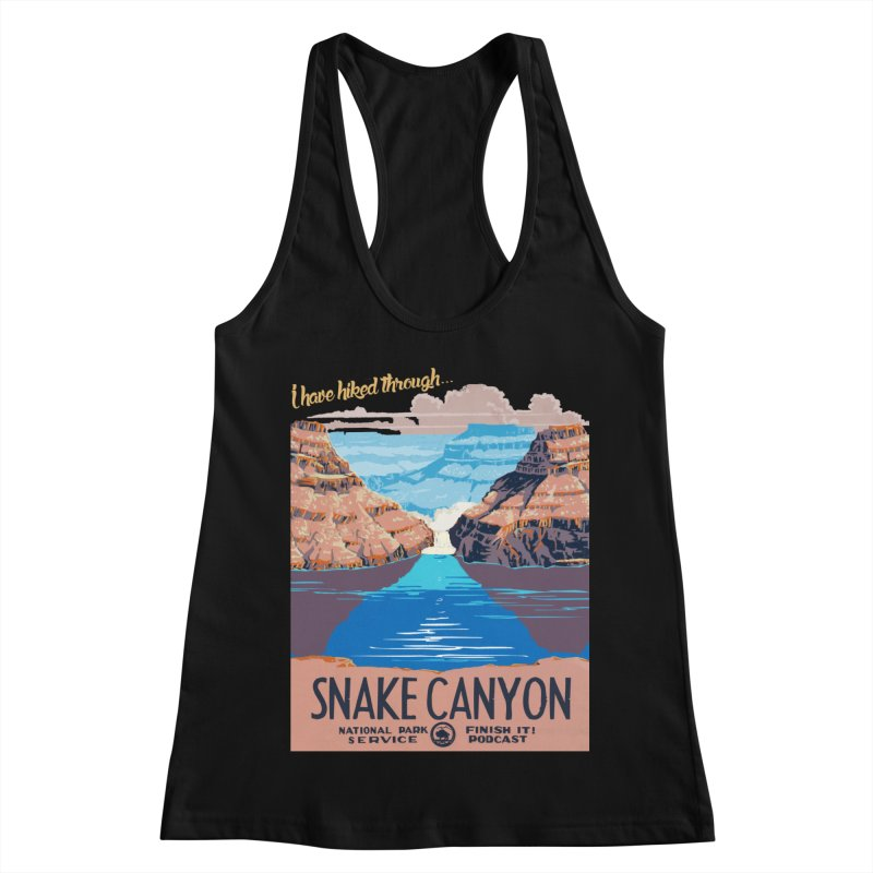 Snake Canyon Hourglass Women's Racerback Tank by Finish It! Podcast Merchzone